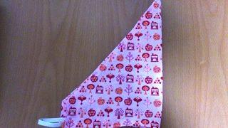 手縫いでGO!子どものゴム付き三角巾を作った話